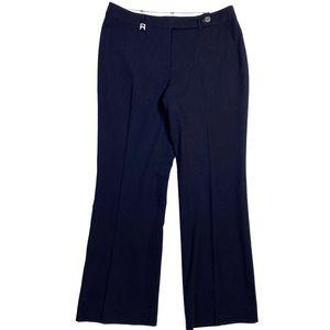 Michael Kors Navy Pinstriped Bootcut Pant